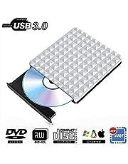 PiAEK Masterizzatore CD Dvd Esterno USB 3.0, Portatile Lettore unità Dvd Esterna Slim Compatibile per Windows10 / 7/8, Laptop, Mac, MacBook Air/PRO, Apple, Desktop, PC
