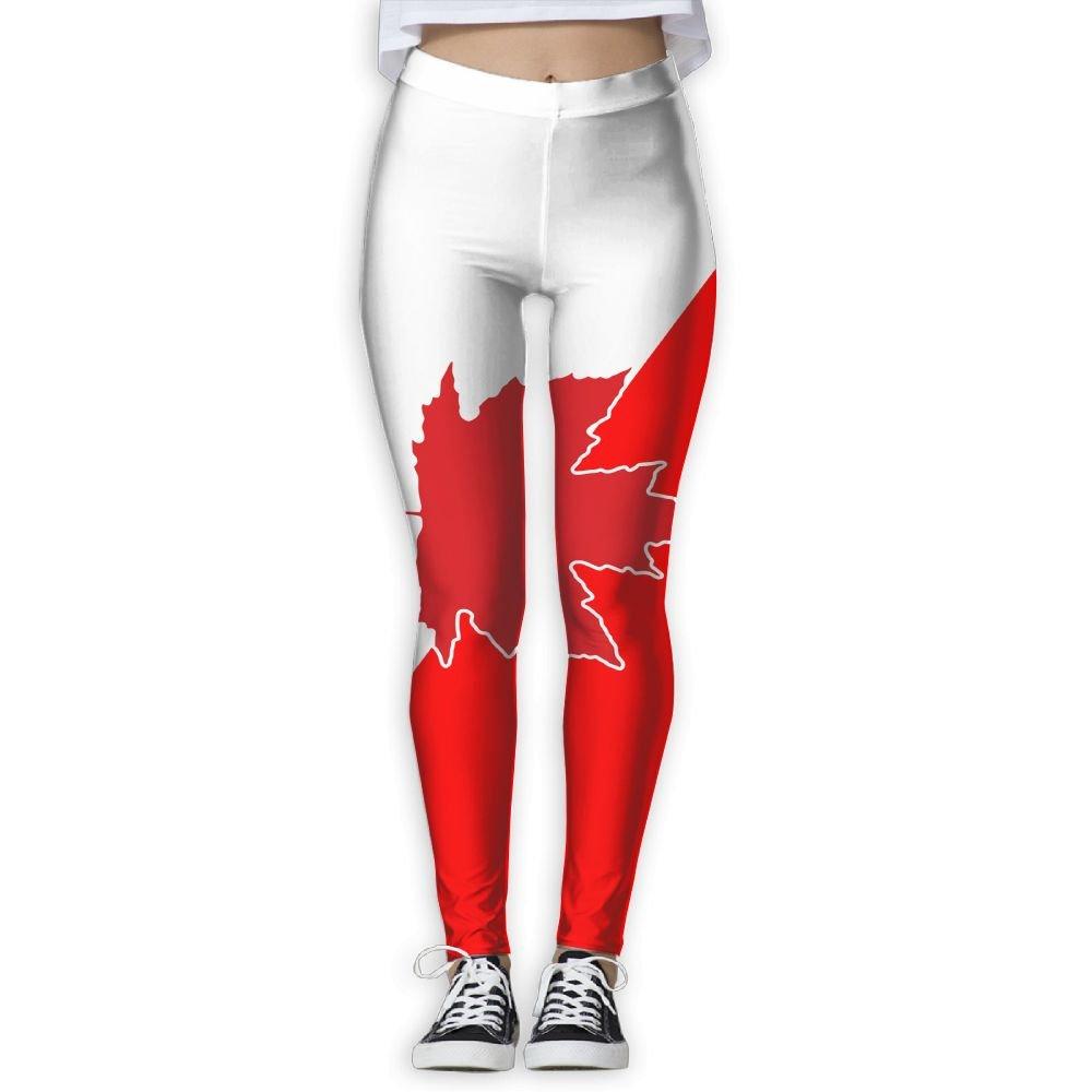 Amazon.com  NUNOFOG Flag Of Canada Women s Yoga Pants Workout Capris  Lightweight Yoga Leggings  Clothing 231d8b9665