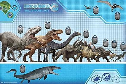 Jurassic World dinosaurio carta del tamaño póster 91,5 x 61 ...