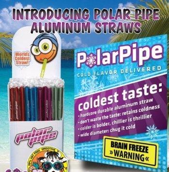 Polar pipe straws