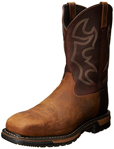 Rocky Men's 11 Inch Original Ride Steel Toe W040 Western Boot,Saffron Brown/Bridle Brown,11.5 M US (Leather Steel Toe Western Boots)