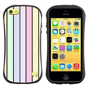 """Hypernova Slim Fit Dual Barniz Protector Caso Case Funda Para Apple iPhone 5C [Rayas Colores Pastel Luz Verde""""]"""