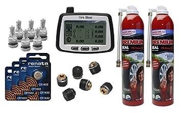 a389715bcfd450 TireMoni Système de contrôle de pression des pneus TM 260 Réparateur au Set  économique