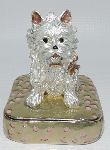 (White Westie Puppy Trinket Box)