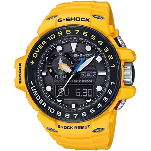 G-Shock GWN-1000H-9A Gulfmaster Summer Color Theme Stylish Watch - Yellow / One Size by Casio