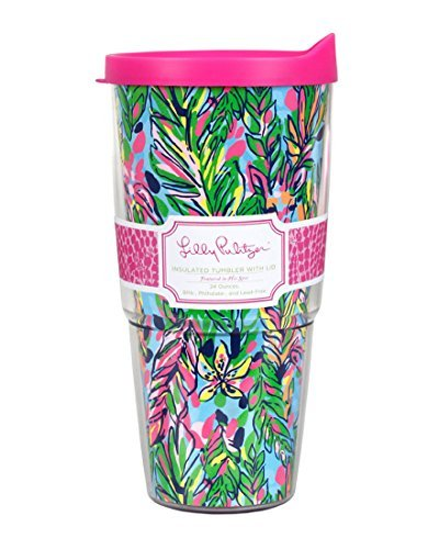 Lilly Pulitzer Tumbler - Lilly Pulitzer Double Walled Tumbler, Hot Spot
