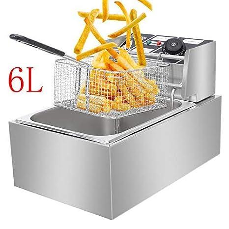 Amazon.com: Freidora eléctrica de 12 L y 5000 W con 2 cestas ...