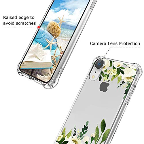 572d91f2b02b4 Hepix iPhone XR Case Flowers White Rose Floral XR Cases, Protective ...