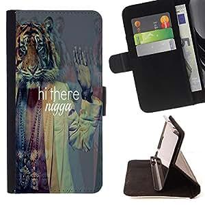- Hi there nagga - - Monedero PU titular de la tarjeta de cr?dito de cuero cubierta de la caja de la bolsa FOR HTC DESIRE 816 Retro Candy