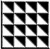 EVA Triangle Puzzle Baby and Children Play Floor Mat Environme Eva Foam Black&White
