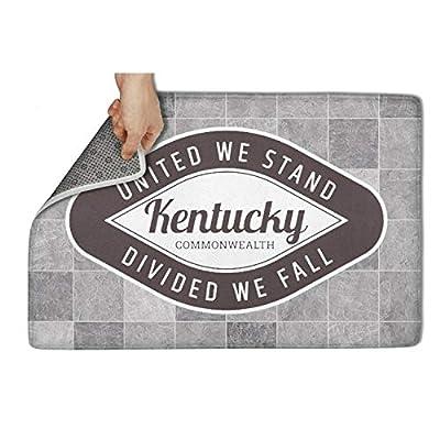"""HCddakse Outdoor Welcome Doormat 31""""x19"""" Rectangular Rubber Non Slip Super Absorbs Machine-Washable Kentucky - United We Stand Modern Decorative Kitchen Fashion Floormat"""