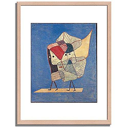 パウルクレー 「Twins. 1930 」 インテリア アート 絵画 壁掛け アートポスターフレーム:木製(白木) サイズ:M(306mm X 397mm) B00MSW9LBW 2.M (306mm X 397mm)|2.フレーム:木製(白木) 2.フレーム:木製(白木) 2.M (306mm X 397mm)