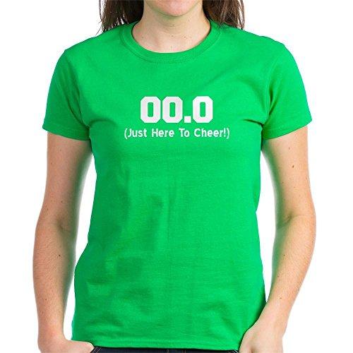 CafePress - Here to Cheer T-Shirt - Womens Cotton T-Shirt