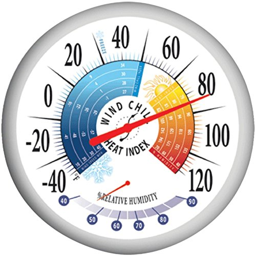 Price comparison product image Springfield 90078 13.25 Thermometer Outdoor Weather Resistant W/Hygrometer Electronics Computers Accessories