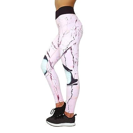c7d2a231c3cec Rose Yoga Leggings Femme, Xinantime Leggings D'entraînement D'impression Pour  Femmes Fitness
