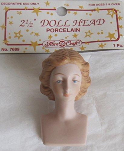Porcelain Angel Doll - Fibre Craft PACK of 1 PORCELAIN 'Lady / Angel' DOLL HEAD 2-1/2