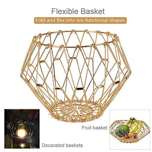 Jion Ware Flexible Gold Wire Basket Tran...
