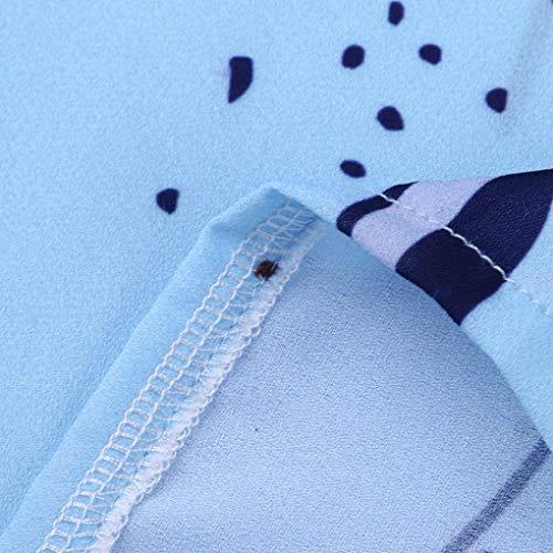 Kimodo Femmes Partie Soir D'impression Décontractée Robe Sans Manches Jupe En Dentelle Bleu