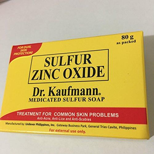 (Dr. Kaufmann Medicated Sulfur (Sulfur Zinc Oxide) Soap 80gr)