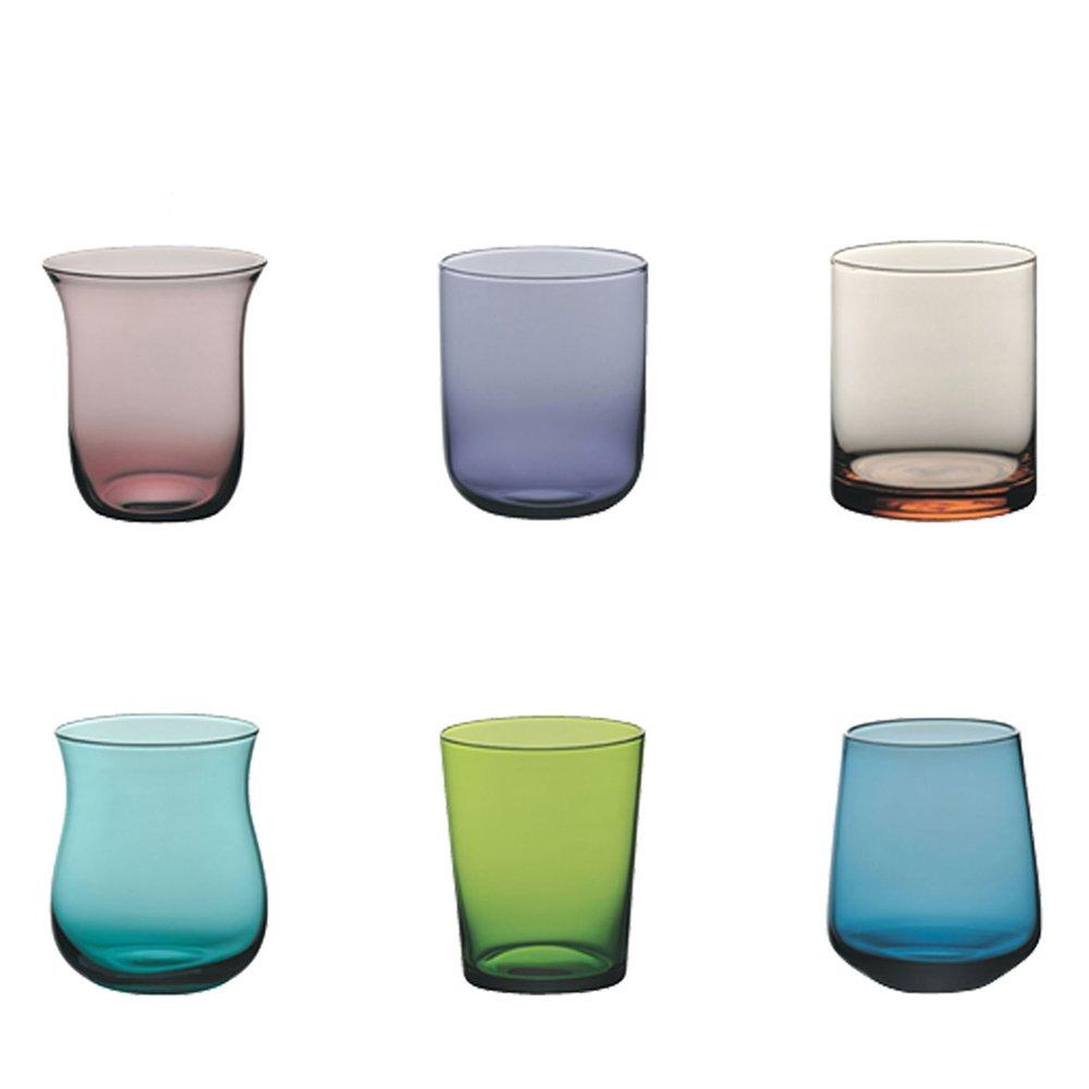 Collezione Sorgente 30 Blu Blu, 6 Set 6 Bicchieri Bormioli Rocco Bicchiere Acqua//Tumbler capacit/à 30 cl -
