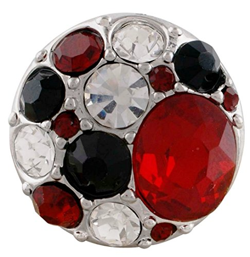 Rockin Angels Red Clear Black Rhinestone Cluster 20mm Charm For Ginger Snaps Magnolia Vine ()