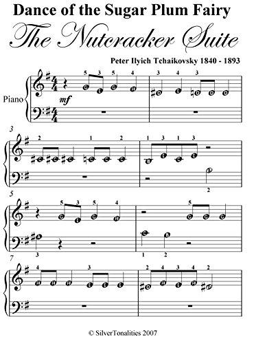 Dance Of The Sugar Plum Fairy Nutcracker Suite Tchaikovsky Beginner Piano Sheet Music