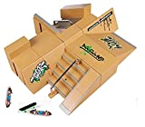 Kidsdream® 8pcs Skate Park Kit Ramp Parts for Tech Deck Fingerboard Mini Finger Skateboard Fingerboards Ultimate Parks with 3PCS Finger Boards