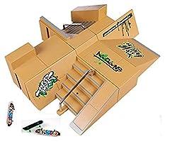 Package included:  1 x 8pcs Skate Park Kit  1 x 3pcs finger boards (send randomly)