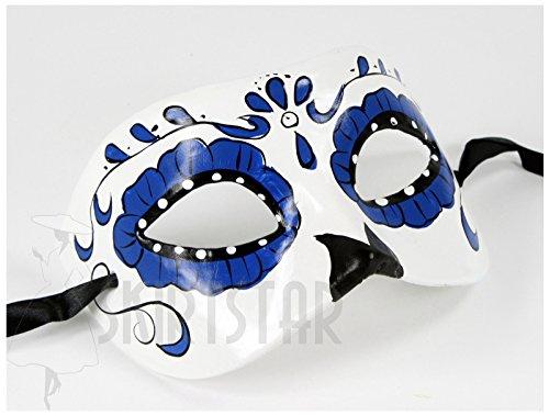 (Women's Dia de Los Muertos Sugar Skull Mask)