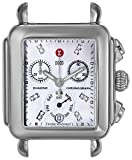 MICHELE Women's MW06P00A0046 Deco Diamond-Accented Stainless Steel Watch Head