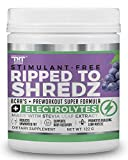 Ripped to Shredz Preworkout Drink for Hardcore Improvement & Performance.Boosts Energy,Motivation,Builds Muscle, Promotes Muscle Recovery,for Men and Women (15 Serving, Grape)