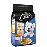 CESAR Rotisserie Chicken Flavor With Spring Vegetables Garnish Dry Small Breed Dog Food 5 Pounds; 100% Nutritionally Complete & Balanced for all life stages for small dogs.