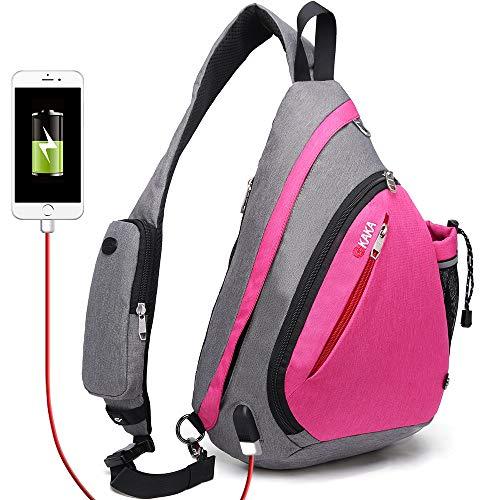 (KAKA Sling Bag - Crossbody Backpack for Women & Men (rose))