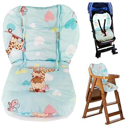 Twoworld Baby Stroller/Car/High Chair Seat Cushion Liner Mat Pad Cover Protector Breathable(Blue)