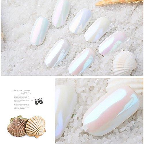 PrettyDiva 7 Jar Pearl Powder Mirror Effect Chrome Nail Powder Metallic Nail Manicure Pigment by Pretty Diva (Image #2)
