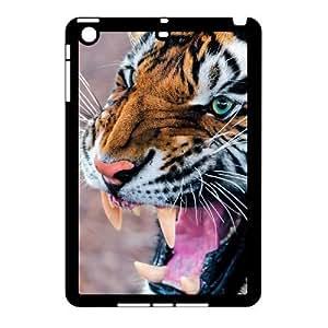 LaiMc Custom Hard Plastic Back Case Cover for iPad Mini with Unique Design Tiger