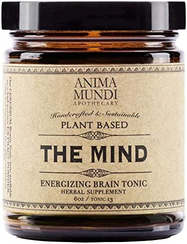 Anima Mundi The Mind Energizing Brain Tonic Powder - Adaptogenic Herbal Blend with Lion's Mane, Ginkgo + Gotu Kola (6oz)
