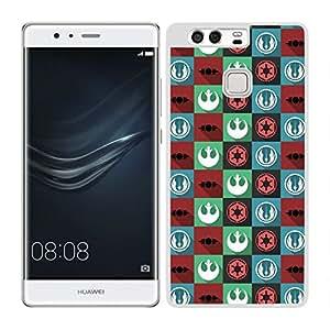 Funda carcasa para Huawei P9 Plus estampado de colores SW borde blanco