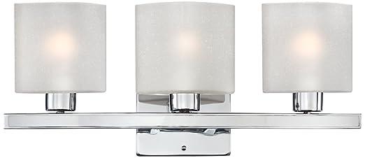 Possini Euro Design 23 1/2u0026quot; Wide Linen Glass Bath Light