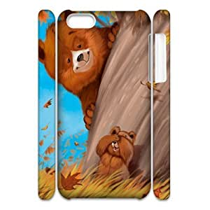 Customized Phone Case with Hard Shell Protection for Iphone 5C 3D case with Cute cartoon bear lxa#981075