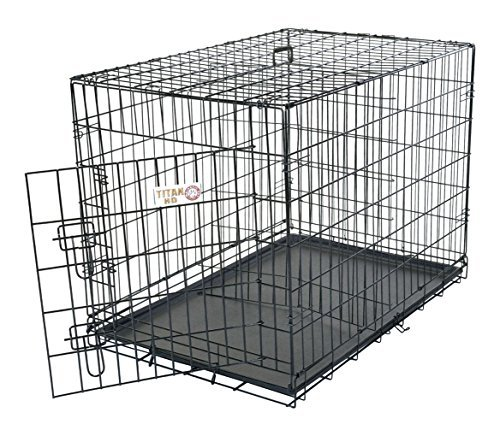 30 inch Single Door Folding Dog Crate By Majestic Pet Products Medium by Majestic Pet