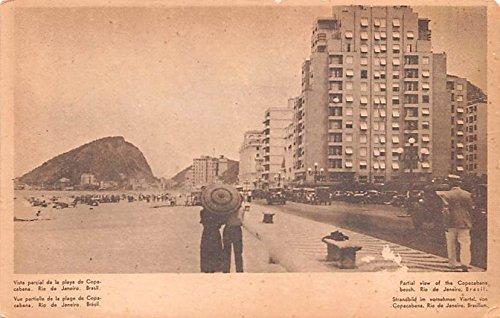 Partial view of the Copacabana Beach Rio De Janeiro Brazil, Brasil Postcard