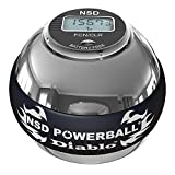 Exercise & Fitness: NSD Powerball 350Hz Metal Pro Diablo Powerball 350Hz Diablo Pro Ultimate Heavy Weight Metal - Silver