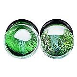 "Lianrun 1Pair/4Pairs Mixed Ocean Jellyfish Glass Ear Tunnels Piercing from 0g-5/8"""