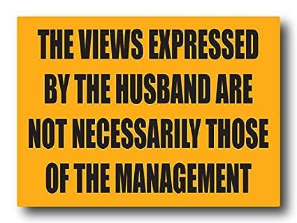 Nourish The Husbands Views Fridge Magnet