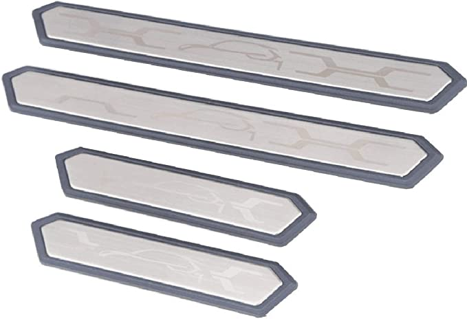HBTTFR 4 Pcs,Car External Door Sill Protectors Threshold Scuff Plate Welcome Pedal Kick Guard Plates Covers Trims for Renault CLIO IV V CLIO 4 5 RS Grandtour 2014-2020,Stainless Steel,Accessories
