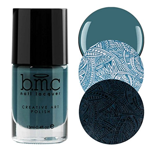 BMC Snowflake Waltz Collection: Harlequin - Deep Teal Green