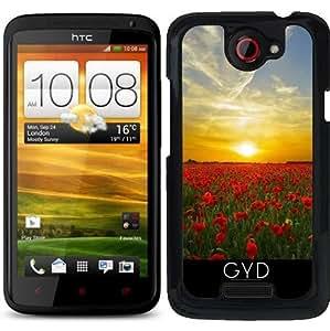 Funda para HTC one x - Puesta De Sol En Un Mar De Amapolas by Grab My Art