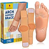 OrthoDoc's Gel Arch Support Brace for Flat Feet Men Women - Plantar Fasciitis Sleeve Pair - Planters Fasciitis Massager - Foot Compression Wrap - Aids High Arch, Fallen Arch, Foot Heel Pain (Fits All)