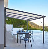 Shatex Shade Panel Block 90% of UV Rays with Ready-tie up Ribbon for Pergola/Greenhouses/Carport/Porch 10x30ft Tan
